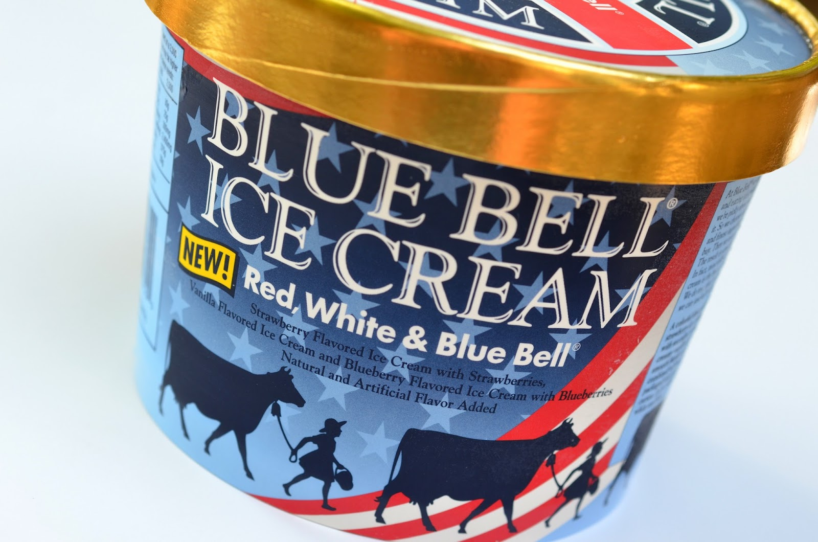 food and ice cream recipes REVIEW Blue Bell Red White Blue Bell