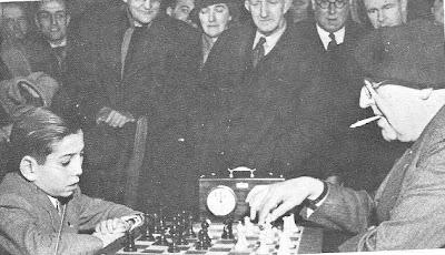 Partida de ajedrez Benrstein contra Pomar, 1949