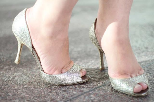 Jimmy Choo Logan Glitter Heels