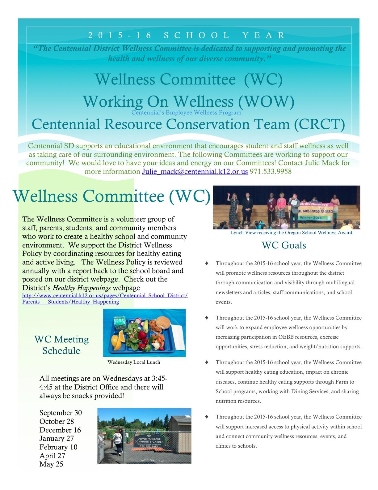Centennial Wellness Flyer