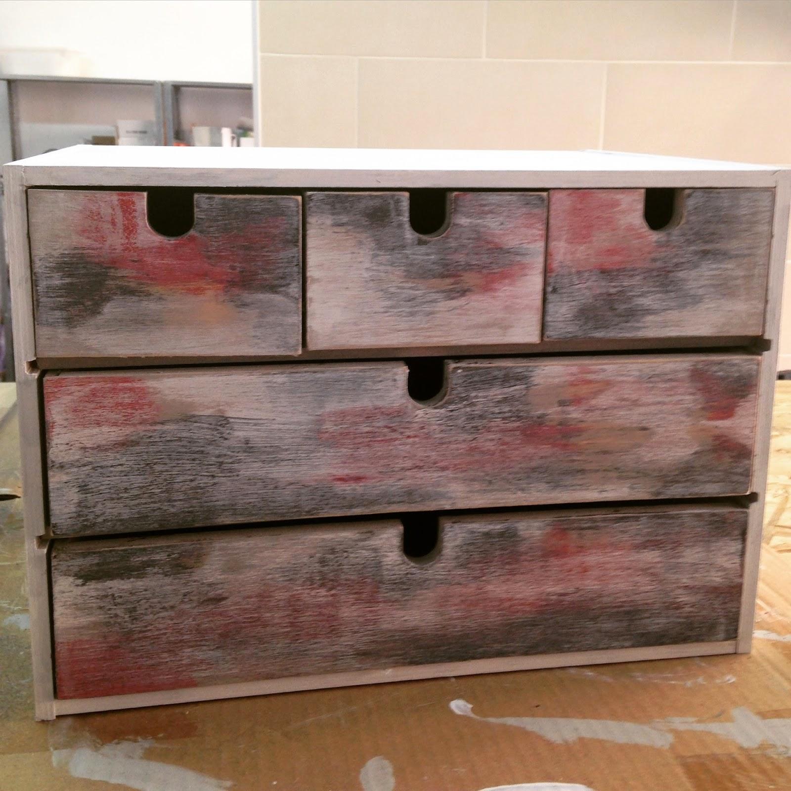 Personalizar cajonera MOPPE de Ikea con pintura ChalkPaint