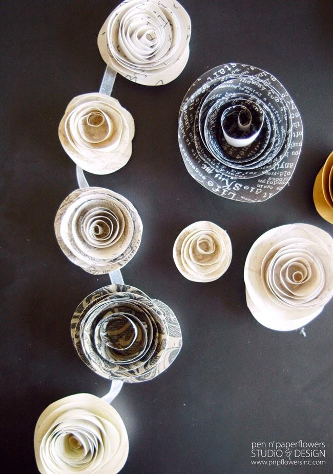 Pen Paper Flowers SHARE DIY Paper Flowers SNAP Creativity
