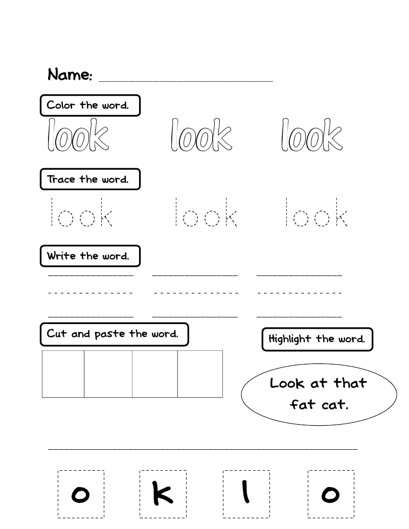 Lovely sight Printable word packet Packet  Literacy for printable More: & Word Sight PreK