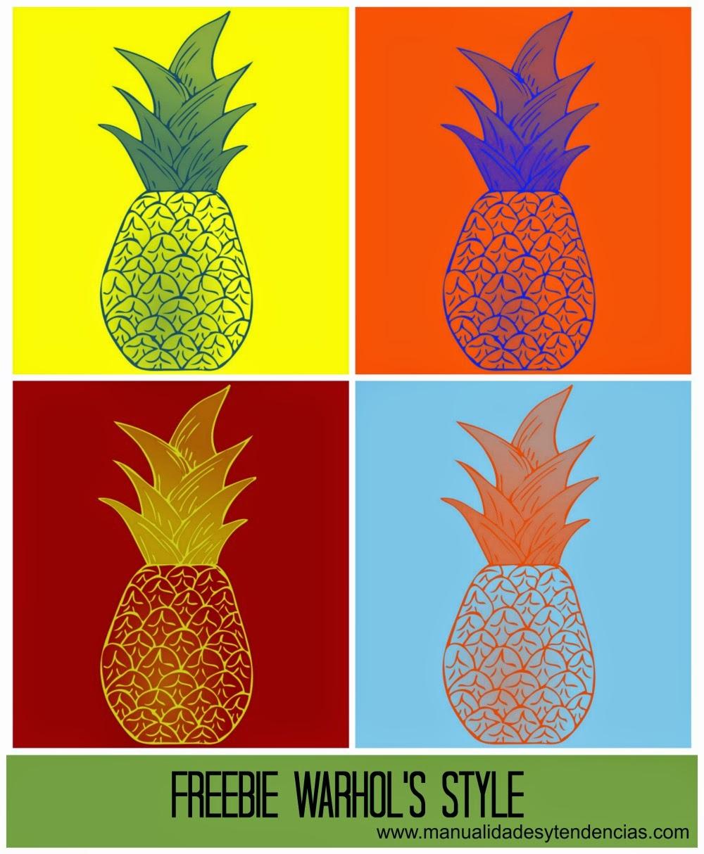 Imprimible gratis  Warhol / Warhol free printable