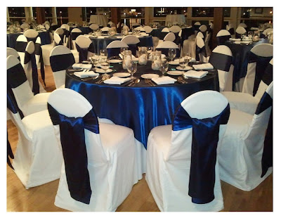 royal blue chair sashes
