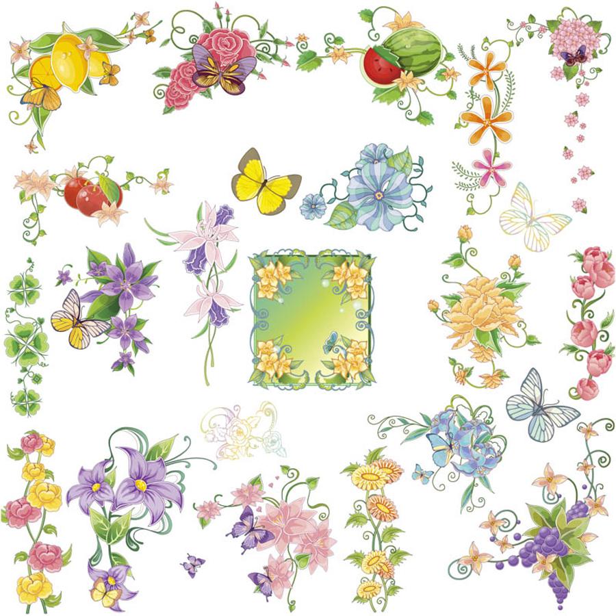 春の花と蝶のカラフルな装飾 ... : パソコン アルファベット : すべての講義