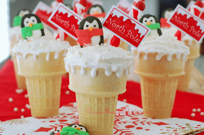 North Pole Dirt Cake Cone - The Sweet Chick