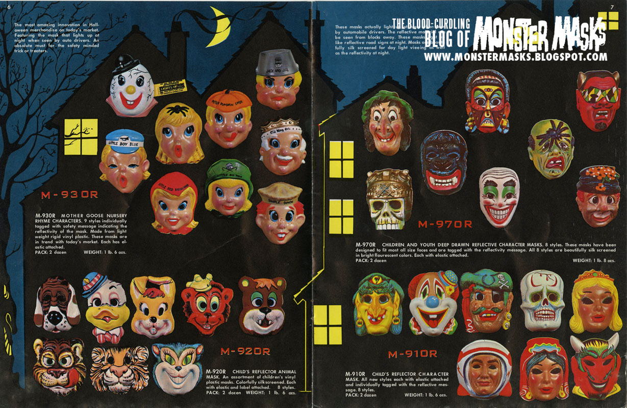 the 1970 band star halloween catalog has one of the coolest catalog covers ever posted here on the blood curdling blog of monster masks