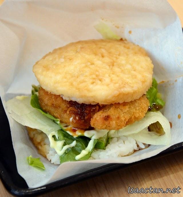 #4 Chicken Katsu Rice Burger - RM6 each, or RM12 per set