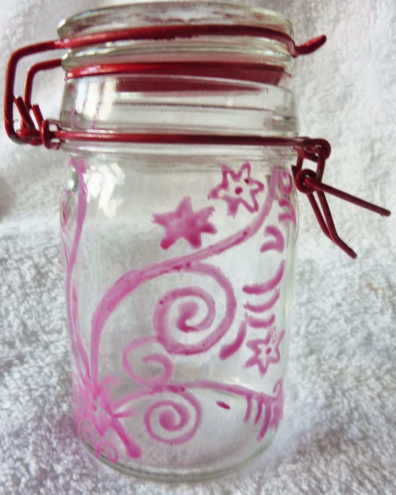 Comment d corer un pot en verre soyez farahmineuse - Customiser des pots en verre ...