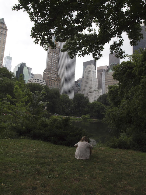 Peaceful Spots, Overlooking #thePond, #centralpark, #NYC, Original