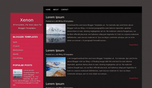 xenon blogger template