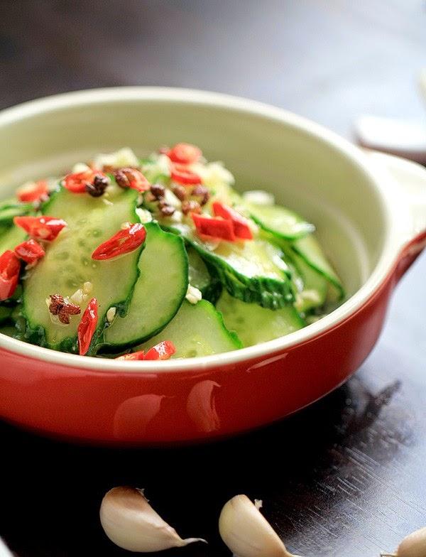 Cách làm salad dưa chuột chua giòn - Nộm dưa chuột