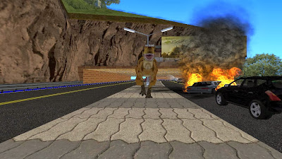 Download Mod Dinosaurus Attack Di GTA PC