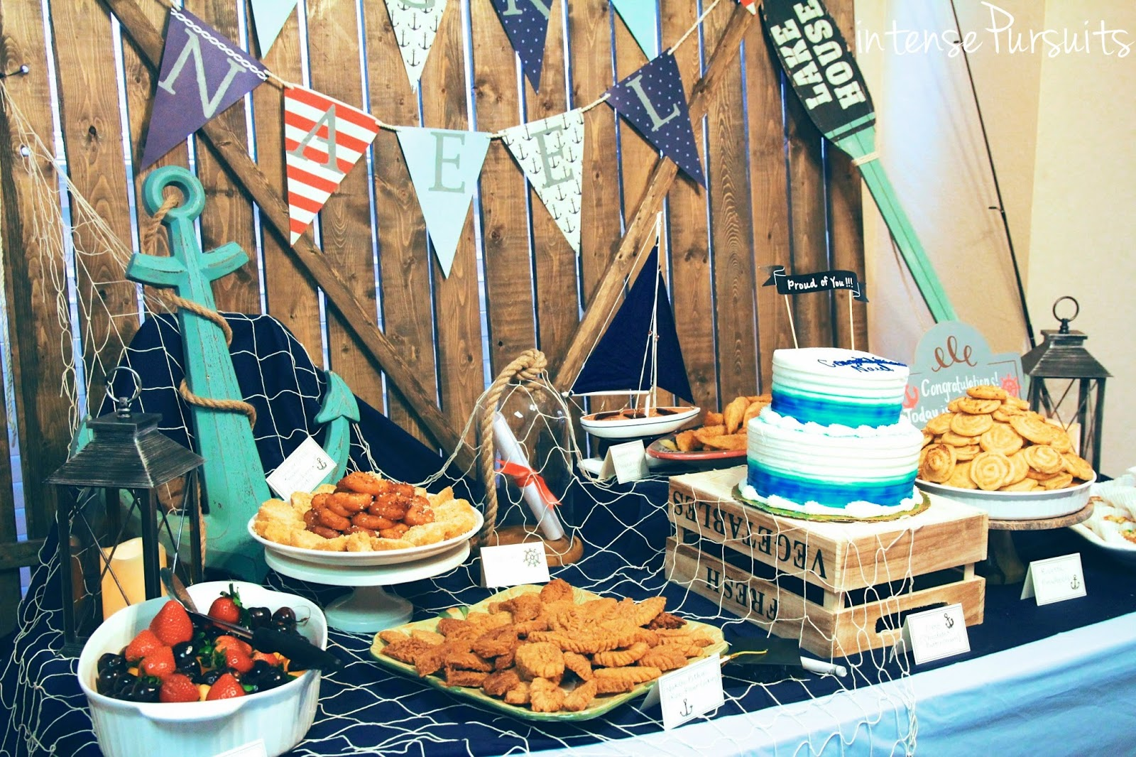 Diy Sailor Navy Themed Indoor Outdoor Graduation Party