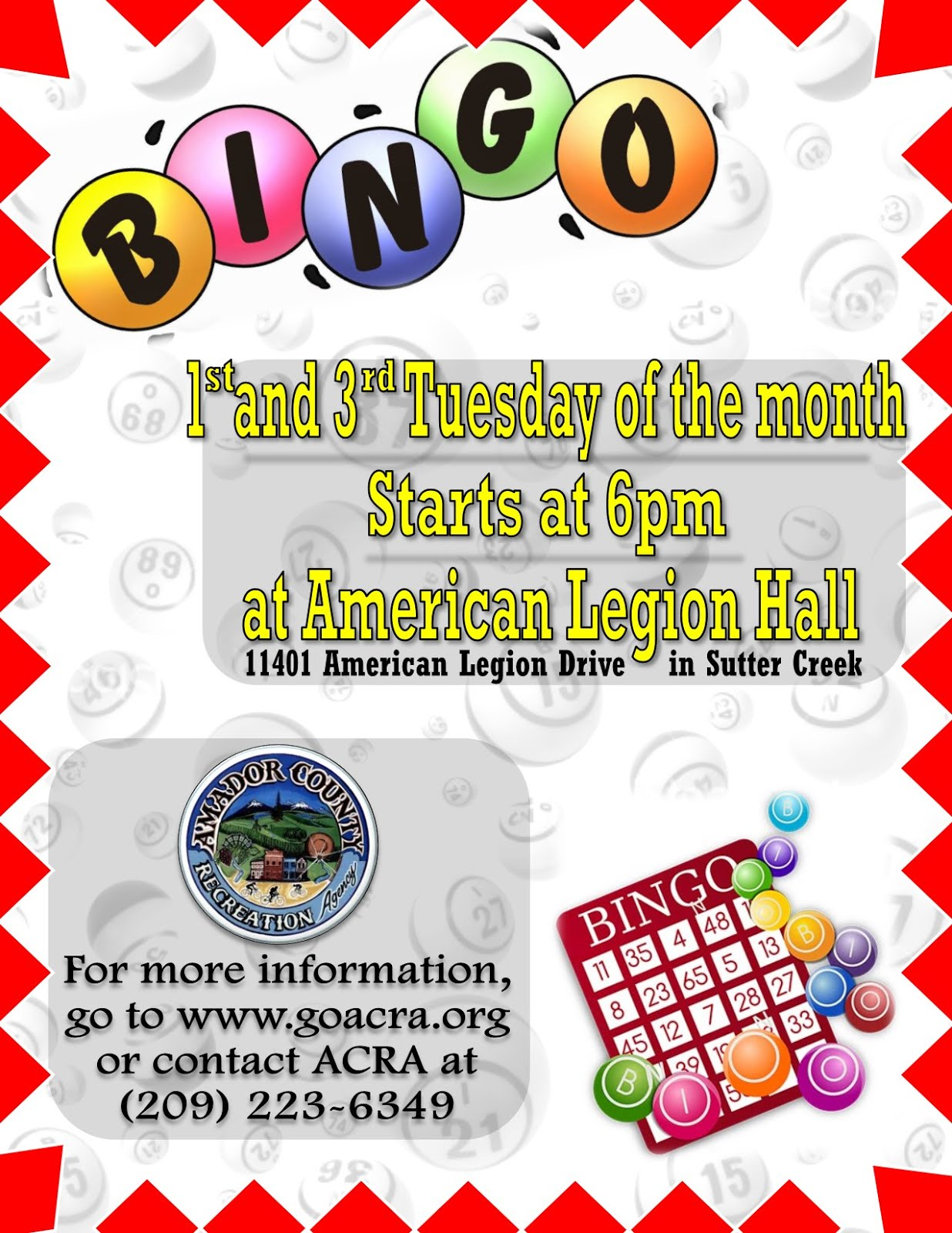 Bingo  - 1st & 3rd Tuesdays