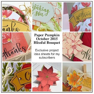 Stampin' Up! Paper Pumpkin October 2015 Blissful Bouquet Bonus Ideas for my subscribers #paperpumpkin www.juliedavison.com