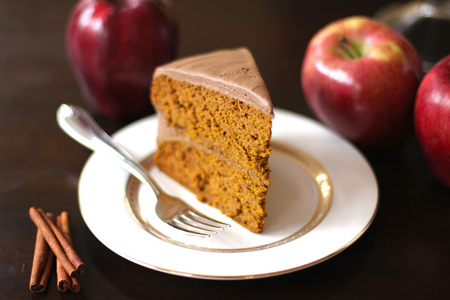Healthy Orange Velvet Cake with Chocolate Frosting