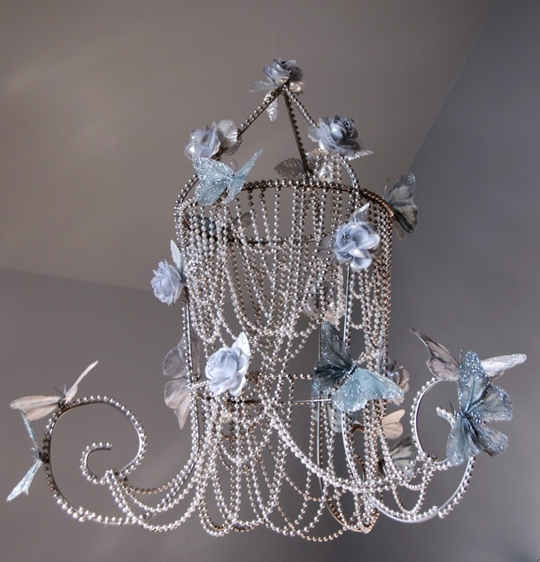 Mark montano wow butterfly chandelier imagine your little girl looking up at night right before bed and seeing sparkling butterflies hovering above her head this chandelier is perfect for any aloadofball Choice Image
