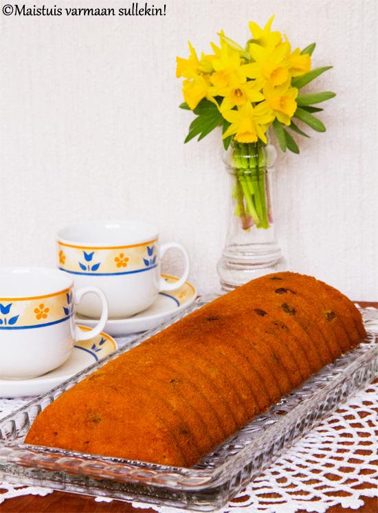 Rommilla maustettu porkkanakakku (gluteeniton ja maidoton)