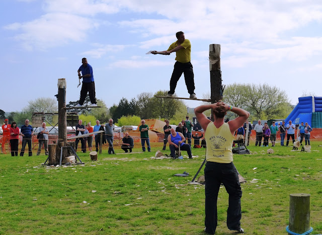 Wye Valley Axemen at Abbey Hill Steam Rally