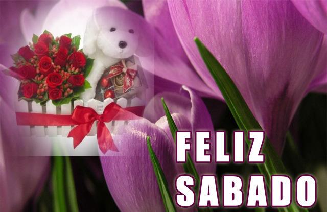 tarjetas de feliz sabado en flores
