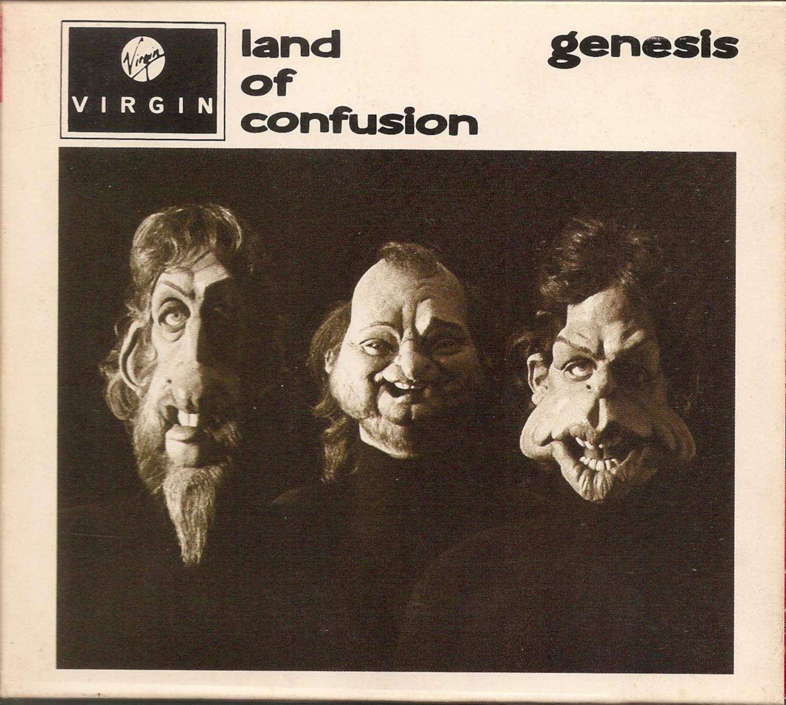 the first pressing cd collection genesis land of confusion. Black Bedroom Furniture Sets. Home Design Ideas
