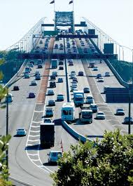 Auckland Harbour Bridge Barrier Transfer Machine in operation