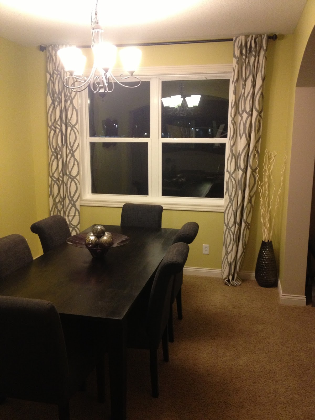our styled suburban life dining room curtains