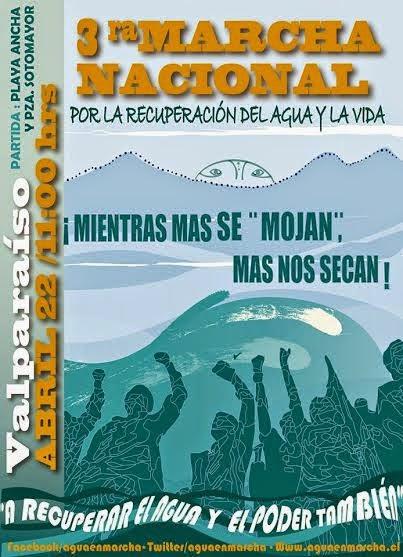 V REGION, VALPARAISO: 3ra MARCHA NACIONAL POR LA RECUPERACIÓN DEL AGUA Y LA VIDA