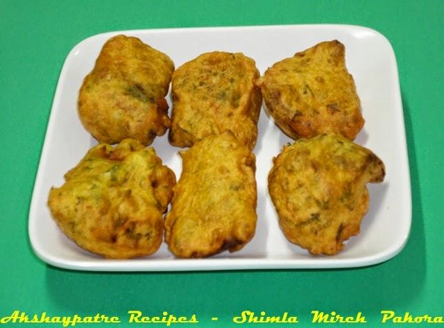 dhobli mirchi bhaji in a serving plate