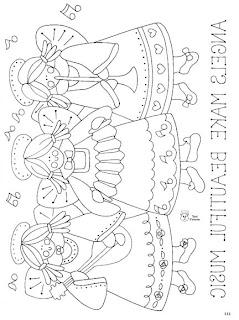 Desenhos Para Pintar Os tres anjos