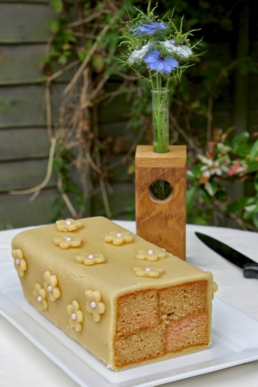 Marzipan Sponge Cake Recipe