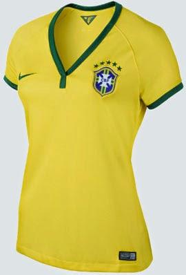 camisa feminina seleção brasileira Copa do Mundo Brasil 2014 Nike
