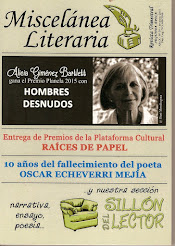 REVISTA MISCELÁNEA LITERARIA DE EDICIONES CARDEÑOSO, Nº 39 INVIERNO 2015