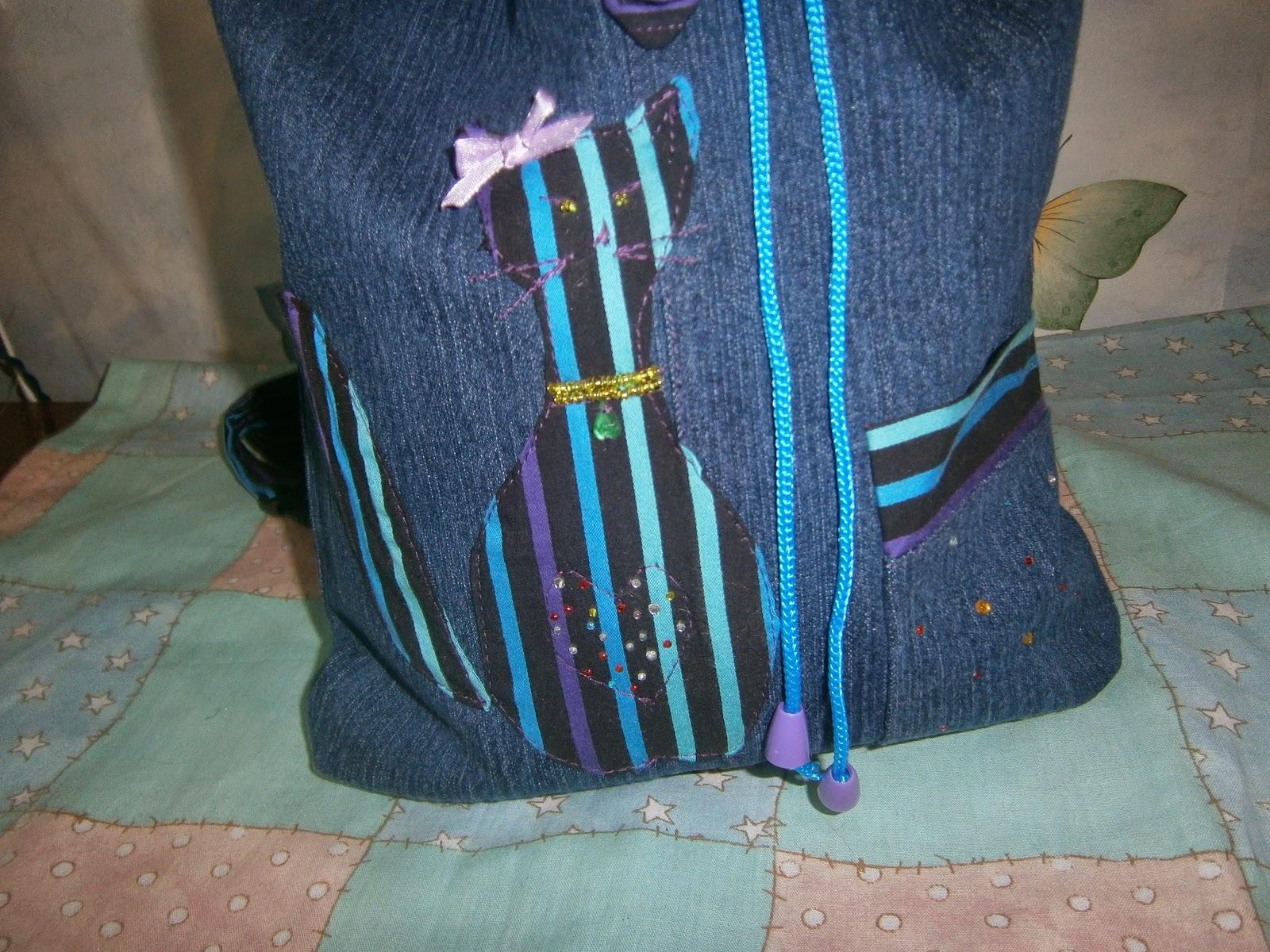 рюкзак из джинсовой ткани своими руками