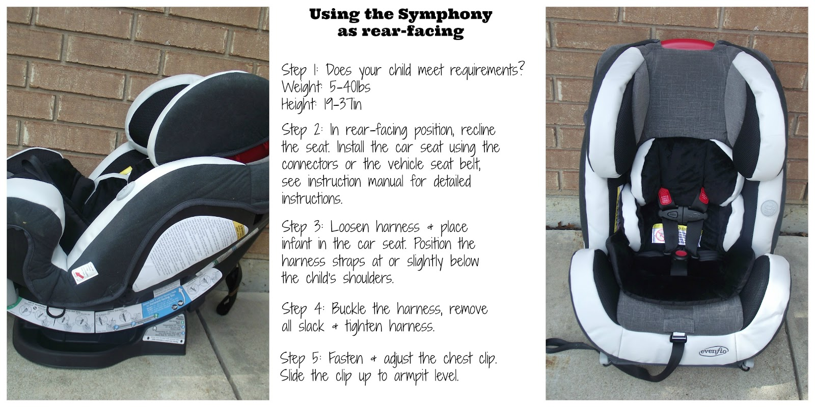 Evenflo Symphony 65 Dlx All In One Car Seat
