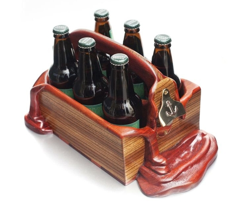 06-Beer-Caddy-Alan-Gwizdowski-Surreal-Salvador-Dali-Wood-Furnishings-www-designstack-co
