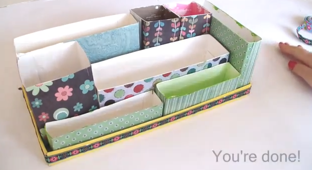 Easy craft idea diy desk organizer - Desk organizer diy ...