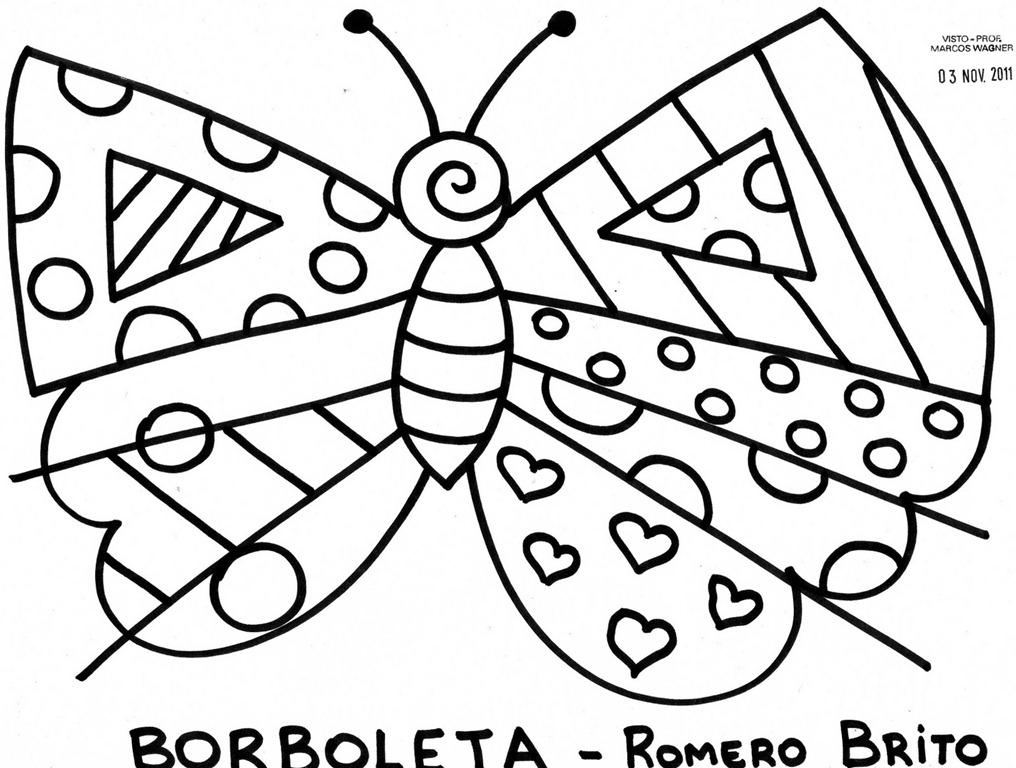 Confira os desenhos de Romero Britto para imprimir e colorir se
