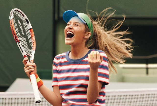 Tennis inspired sports luxe fashion editorial