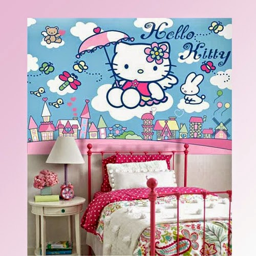 Gambar Kamar Tidur Anak Perempuan Hello Kitty Desain Kamar Tidur