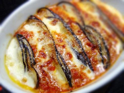 aubergine mozzarella gratäng