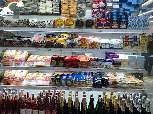 cheese and wine section Merkado Supermarket