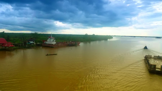 Beautiful big river in banjarimasin