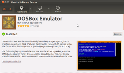 download dosbox from ubuntu software centre