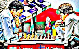 Echecs : Magnus Carlsen face à Anand