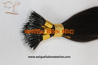 Brazilian hair nano ring extensions