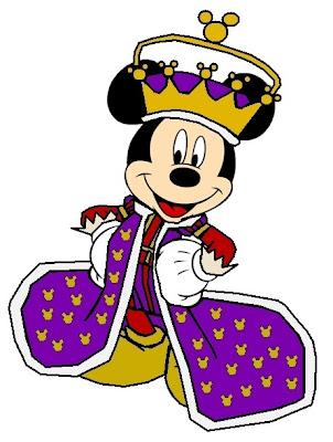 Mickey mouse rey con corona