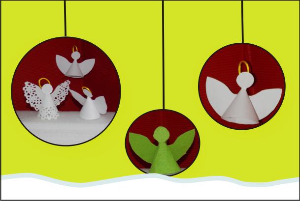 Ngeles de papel para navidad manualidades forja ideas - Angeles de navidad manualidades ...
